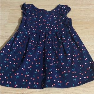 Carter's Navy Blue Cherry Dress 24M